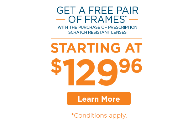 Free Frame Sale - image with woman in glasses - FYidoctors