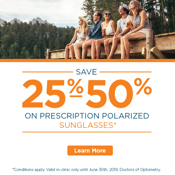 Prescription sunglasses sale – group of friends sitting on a dock laughing - FYidoctors